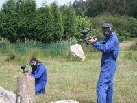 Pair of paintball players