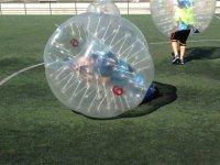 Kneeling inside the bubble