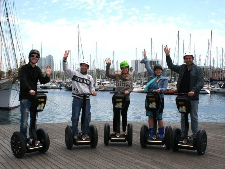 Harbour, on Segway