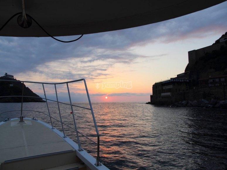 船上的景色