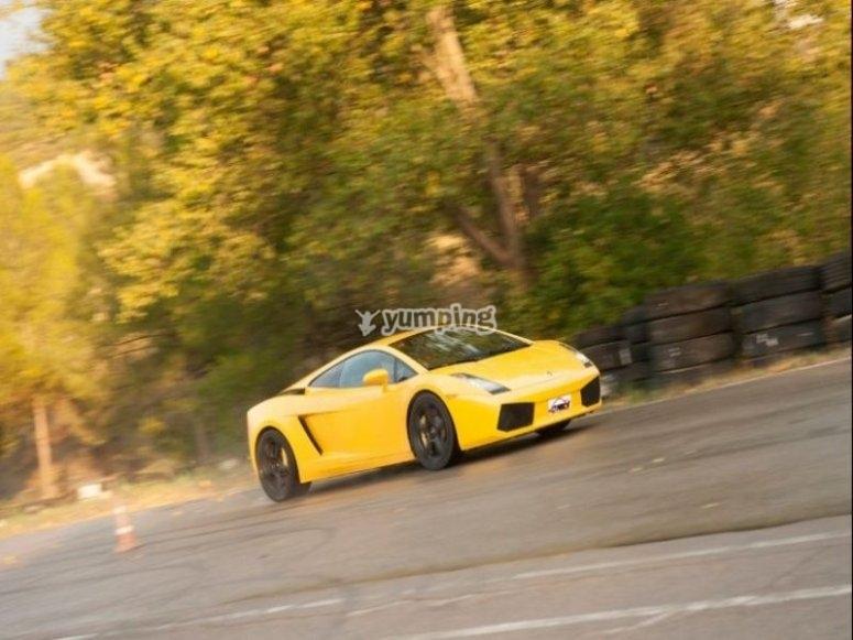 Driving a Lamborghini Gallardo