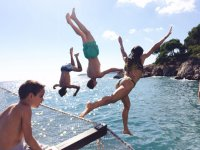 享受马略卡岛的海湾