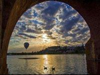 Volando en globo en Badajoz