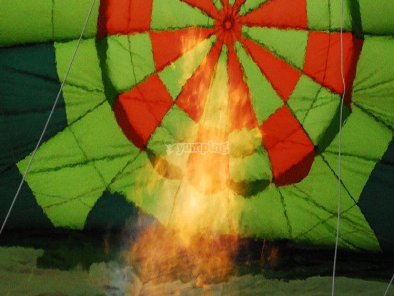 burning helium