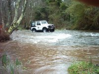 4x4 on the river