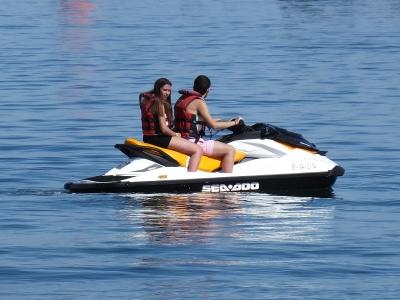 Ruta en moto de agua doble en Gandía 15 min