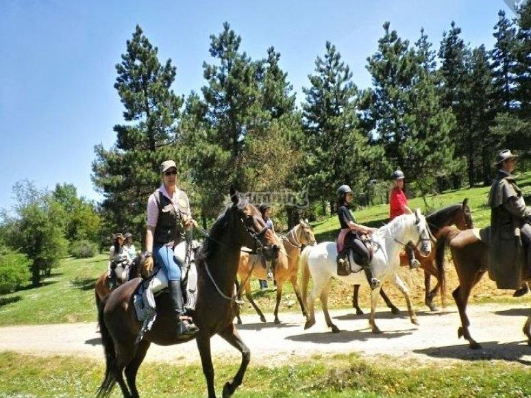 Rutas a caballo desde Bikuña