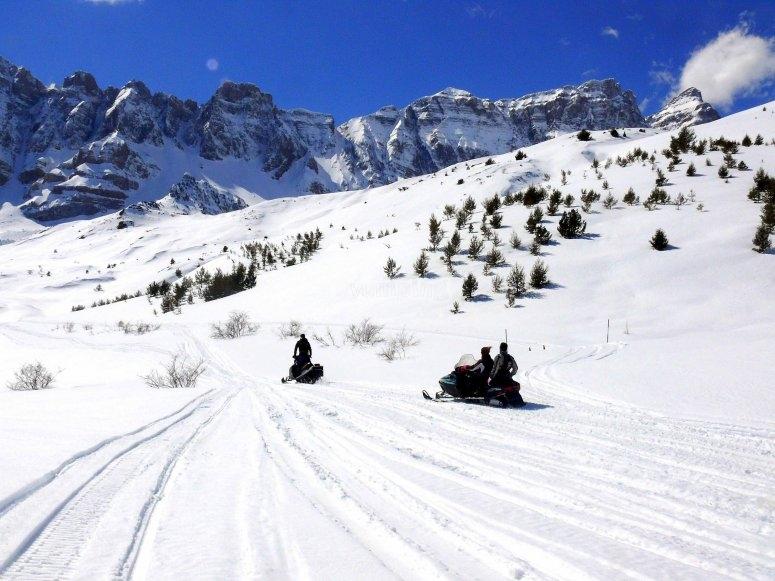 Drive a snowmobile