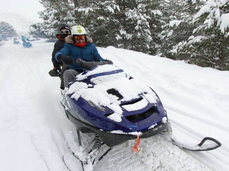 Is really fun to drive snowmobiles