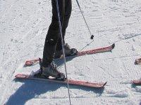 Sobre los esquís