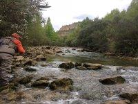 De pesca en el río Segura