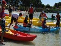 Kayaks en La Estanca de Alcaniz