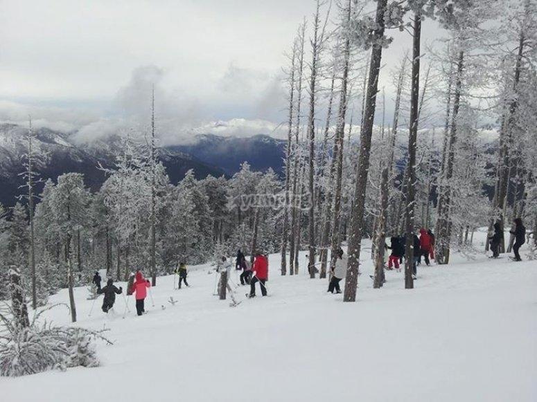 Raquetas de nieve en Andorra Grandvalira