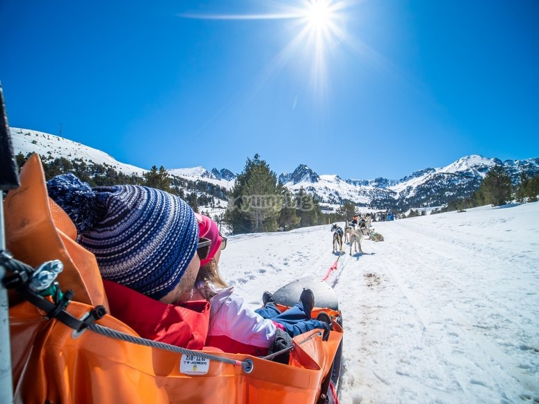 Ruta mushing en Andorra
