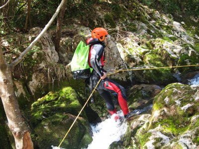 Canyoning in river Rubo, 3h30min