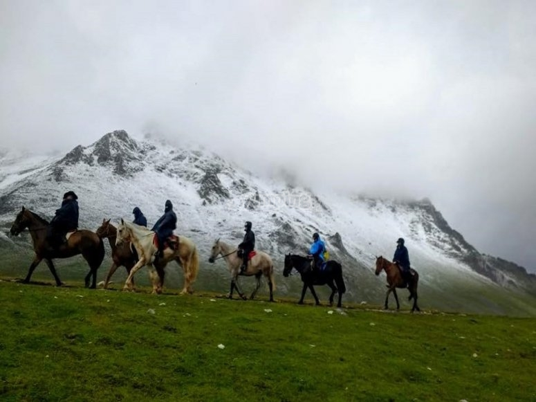Horse riding trail in Cantabria
