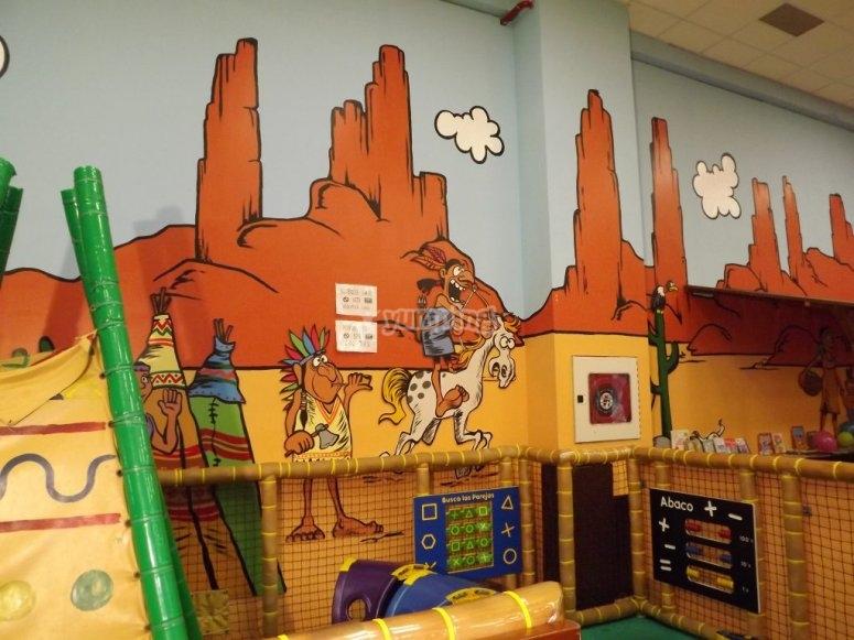 Walls with fun drawings