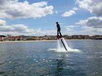 Learning how to stand up on the flyboard