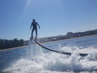 Flyboard experience from a back perspective