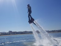 Flyboard activities nearby the coast