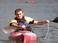 Avventuriero in kayak