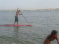 With rowing