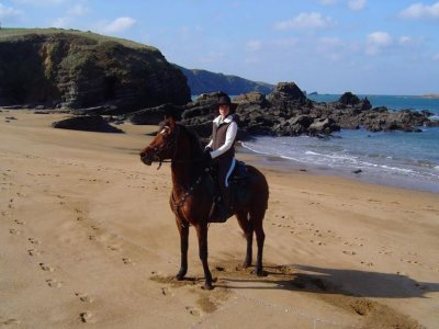 Viaggio a cavallo verso la spiaggia di Xagó
