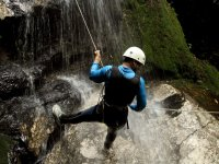 Rappelling in the canon