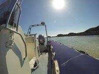 Asomandonos a la costa desde la embarcacion
