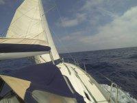 Avanzando en el velero