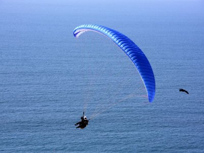 Paragliding over Costa Verde in Asturias