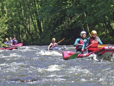Kayak doble en río Cabriel en Venta del Moro 2 h