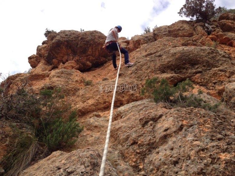 Ascension con cuerda