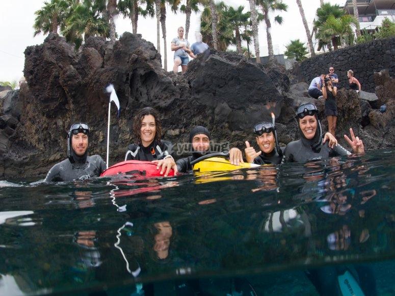Apnea/Freediving baptism in Lanzarote
