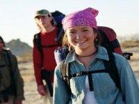 Escursionista sorridente