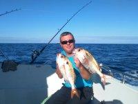 orgulloso de lo pescado
