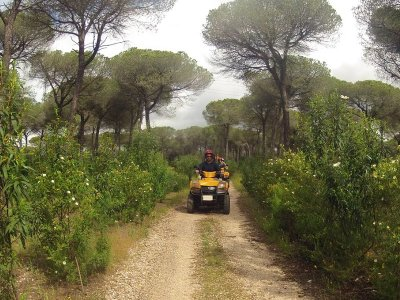 Ruta en quad biplaza y SPA en pinares de Cartaya