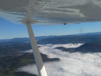 Flying over Galicia in ultralight