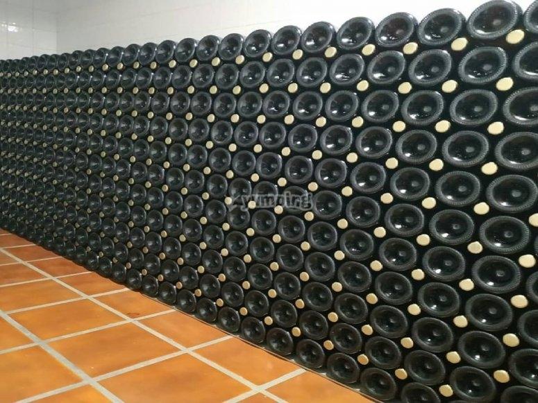 Pannello del vino in bottiglia