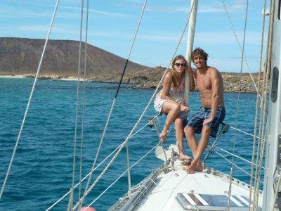 Paseo romántico al atardecer en Isla de Lobos