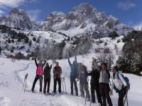Playing with the snow during the excursion