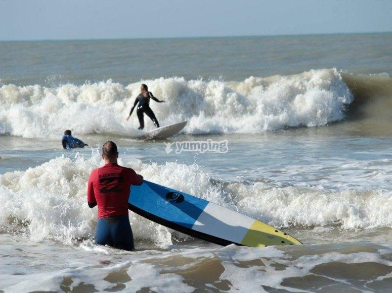 Varios surfistas