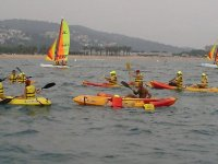 Windsurfing session and other activities
