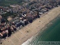 la playa desde el aire
