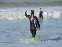 Clase de surf privada en Cádiz 2 horas