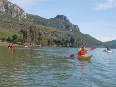 Canoe ride Puente Nuevo reservoir, Espiel