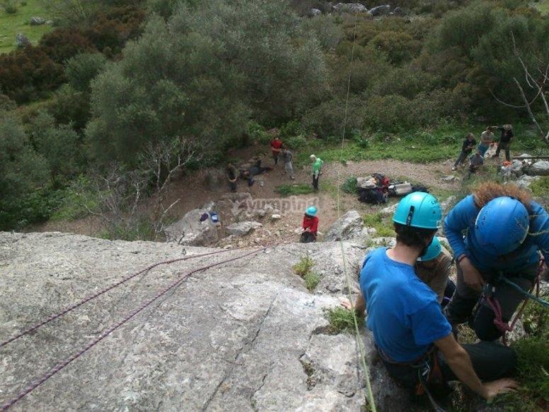 Curso de escalada para grupos