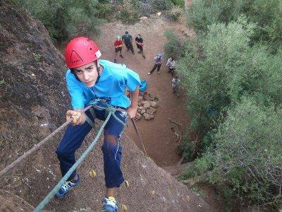 Rock climbing baptism in Espiel