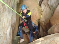 Descendiendo con un rappel