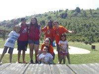 Having fun at the camp